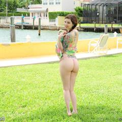 Ivy Snow bestsolomodels pigtails outdoor perfect tattoo shaved busty babe teen