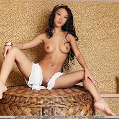 Mariko A inverted nipples by Tony Murano very long hair met-art shaved asian babe