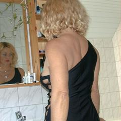 hardcorematureandyoung mature and young platinum blonde black dress hardcore mirror MILF garment