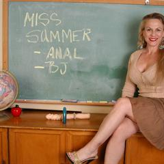Miss Summer black lingerie oldspunkers brown dress teacher nonnude mature school globe MILF