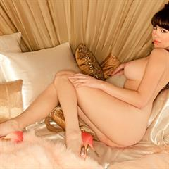 Claire Sinclair attugirls playmate brunette playboy shaved curves busty solo babe