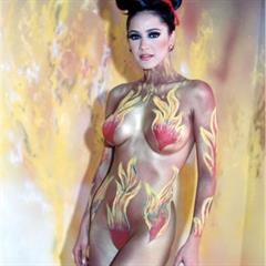 Norkys Batista ultra-celebs bodypainting celebrity nonnude celeb model wings