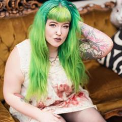 heavily tattooed suicidegirlsnow stretched ears piercings nose ring tattoo labret plump