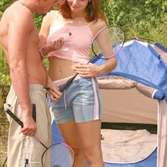 clubseventeen hardcore brunette camping classic trimmed shaved facial Dutch tent