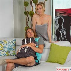 Julia Ann yourdailypornstars naughty america hardcore big tits implants trimmed blonde shower shaved