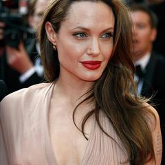 Angelina Jolie cleavage celeb legs celebrity actress