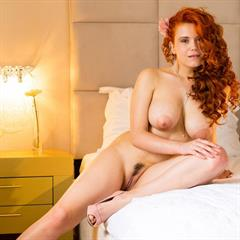 Lillith von Titz MyNakedDolls long curls open pussy erocurves huge tits redhead trimmed shaved busty