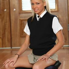 Kacey Jordan school uniform totally shaved blue-gray eyes smooth vulva nsgalleries plump pussy small tits magic flat chest
