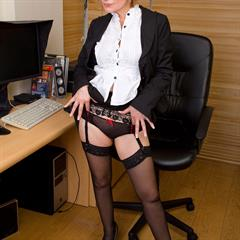 plump pussy allover30 secretary stockings mature office garment
