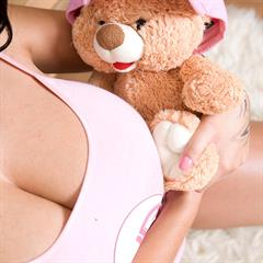 Deborah teddy big naturals cuddly toy YoungBusty huge tits brunette payserve natural Dominno