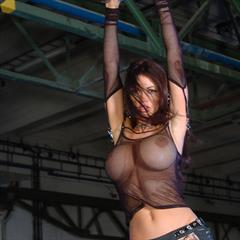 Veronika Zemanova Veronica platform high heels fishnet stockings biohazard cunt boots black fishnets landing strip actiongirls