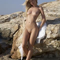 Marketa Belonoha B Marketa4You czech girl blonde tfpez rocks beach