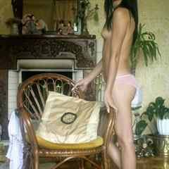 Katya black hair imgher chair brunette