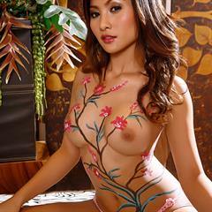 The Black Alley bodypainting sexytokyo perfect redhead asian busty