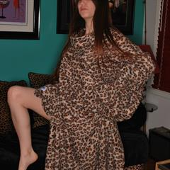Misty Gates clothed unclothed puffy nipples animal print mistygates sexy pose snuggie teen