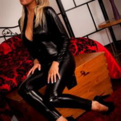 Emma B skintightglamour big tits catsuit blonde babe