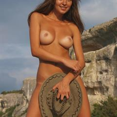 Yuliya A juliet Jewel totally shaved splendiferous tanlines brunette mountain outdoor xhorde