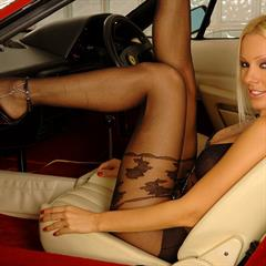 Vega Vixen bodystocking high arched 21 sextury frontseat thruhere blonde heels feet car