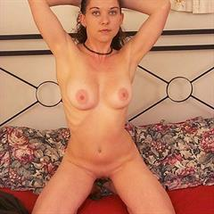 brunette shaved curly solo bed reves