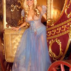 Kara Monaco cinderella princess platinum blonde curly hair fake boobs hottystop long tits playmate