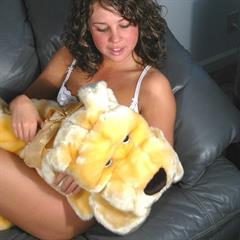 Emily pierced tongue nose cuddly toy teendolls couch solo teen sexy piercing