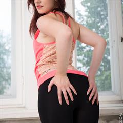 Sabrina Higinio Domingo domingoview charmmodels bottomless leggings redhead shaved