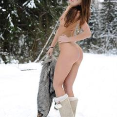 Liza H long hair Brooklyn met-art redhead naked cold lyaz snow solo