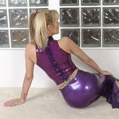 fetishsphere pigtails nonnude blonde latex solo