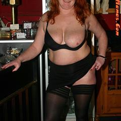stackedmamas stockings big tits redhead mature nylons saggy solo fat garment