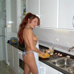 oldersluts kitchen redhead mature myslut apron