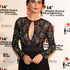 Catrinel Menghia celebrity-slips transparent seethrough earrings seethru glamour closeup nosejob public