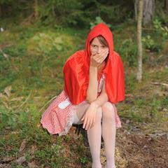 Fairy Tale Red Riding Hood Little Cap Big Bad Wolf fairytale payserve hardcore outdoor pissing forest