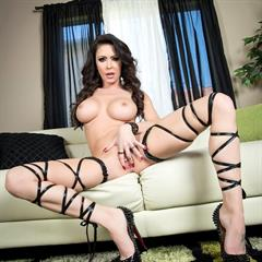Jessica Jaymes pierced pussy brunette implants shaved spizoo babe sofa piercing