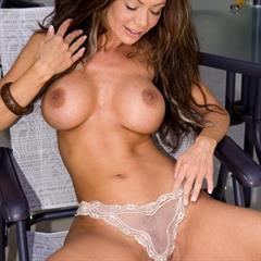 Crissy Moran Crissys science tits landing strip lopsided fuck me pumps smooth vulva spread labia from behind plump pussy