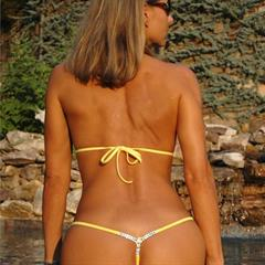 malibustrings yellow bikini seethrough sunglasses swarovski cameltoe nonnude thong sheer