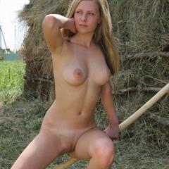 Kylie coin slot long hair haystack blonde shaved series busty farm tits