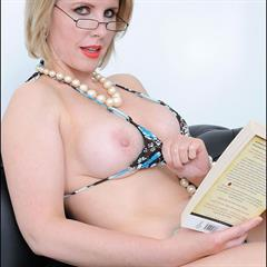 Lady Sonia cuckoldrix ugly sofa glasses reading mature blonde couch MILF
