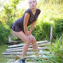 Polly A amour-angels plump pussy small dress pornpin outdoor blonde skinny hairy