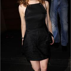 Emma Watson black panties dress celebsking seethrough celebrity minidress upskirt British actress