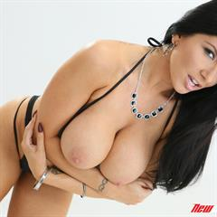 Romi Rain white background NewSensations raven haired huge tits fake big swimsuit hangers wifecv