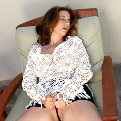 seethrough outdoor over30 mature solo outside