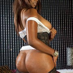 Leah Ray bootyliciousmag stockings lingerie brunette nylons shaved llnwd ebony bed