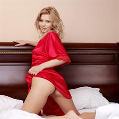 Paloma B by Tony Murano red dress met-art shaved blonde spread tfpez labia