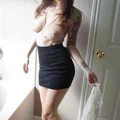 Ivy Snow suction cup dildo amateurindex tattooed perfect redhead tattoo shaved busty