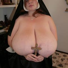Anorei Collins bigtitsnews huge tits religious big church cross jugs nun