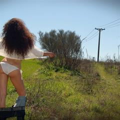 Idoia Aviento A magic-erotica curly hair outdoor anal hardcore outside