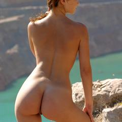 Milada Assoly A sea view brunette met-art outdoor perky busty solo