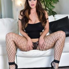Alison Tyler platform high heels pierced pussy clit trimmed upskirt shaved foxhq puba solo