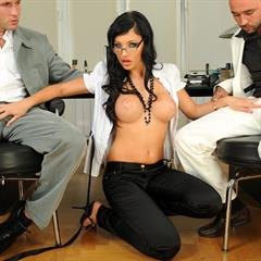 Aletta Ocean raven haired dpfanatics 21sextury secretary fake tits hardcore big office curvy