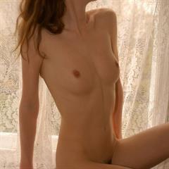 Katya P pokazuha brunette russian window chair solo fit abs